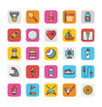 sports and games flat icons set 5 vector image