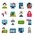 Webinar icons set vector image