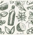 flavoured products - hand drawn seamless pattern vector image