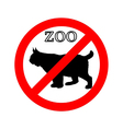 Lynx in zoo prohibited vector image vector image