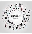 Abstract shiny crystal border vector image