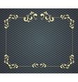 beautiful calligraphy gold frame vector image