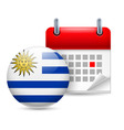 Icon of national day in uruguay vector image