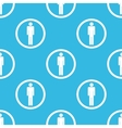 Man sign blue pattern vector image