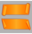 Orange curved banners vector image