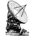 Satellite dishes antenna vector image
