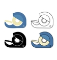 Scotch tape icons set vector image