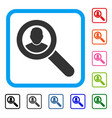 search user framed icon vector image