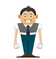 Small office man vector image