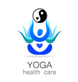 yoga health care vector image