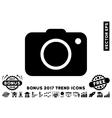 Photo Camera Flat Icon With 2017 Bonus Trend vector image