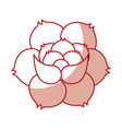 rose flower tattoo icon vector image