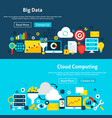 big data analysis website banners vector image