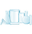 different types of glass beakers vector image vector image
