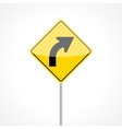 Right Curve Sign vector image