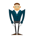 Smile office man in coat vector image vector image
