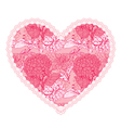 heart lace pattern 4 380 vector image vector image