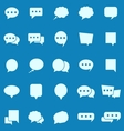 Speech Bubble color icons on blue background vector image
