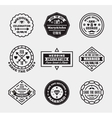 set of vintage wedding badges sings logos vector image