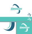 Swoosh Half Abstract Symbol Branding Design Elemen vector image