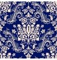 Floral border ornament Damask seamless pattern vector image