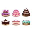 Cakes set Icons on white background vector image
