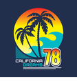 California - vintage badge vector image