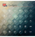Gadgets Line Icons vector image