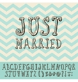 Just Married Vintage Trendy Font Type vector image