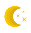 moon night icon flat style vector image
