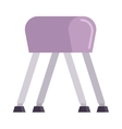 Pommel horse vector image