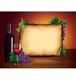 wine bottle paper background vector image