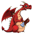 Dragon Loves Chocolate vector image
