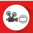 screen tv movie retro camera film vector image