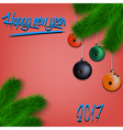 Bowling balls on Christmas tree branch vector image