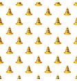 yellow and black traffic cone pattern vector image
