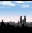 prague city skyline building silhouette cityscape vector image
