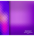 Abstract violet geometric pattern of hexagons vector image