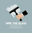 Wipe the Glass vector image
