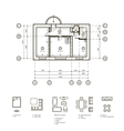 Plan of the apartment vector image