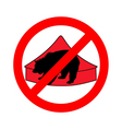 grizzly bear in circus prohibited vector image