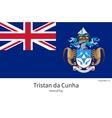 National flag of Tristan da Cunha with correct vector image