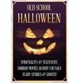 Halloween Old School Party Poster or Banner or vector image