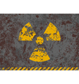 grunge of radiation sign vector image vector image