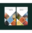 Abstract blurred material design brochure vector image