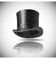 black hat triangle vector image
