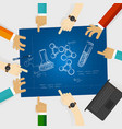 chemistry study element scribble doodle science vector image