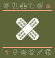 cross adhesive bandage medical plaster ico vector image