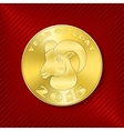 Goat coin vector image