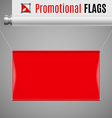 Promotional flag vector image